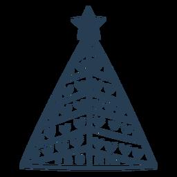 Trazo lindo árbol de navidad escandinavo