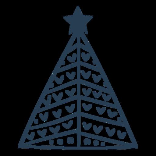 Trazo lindo árbol de navidad escandinavo Transparent PNG