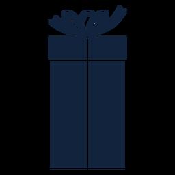 Caixa de presente alta azul