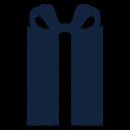 Caixa de presente listrada alta azul