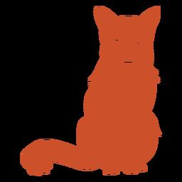 Lágrima no olho sentado silhueta de raposa