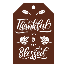 Thankful blessed tag