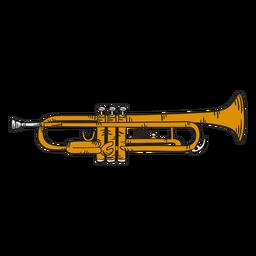 Ilustração fofa de trompete