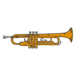 Trumpet cute illustration