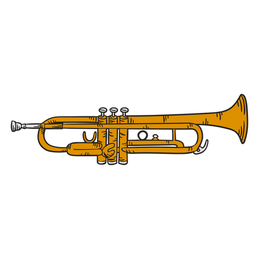 Trumpet cute illustration Transparent PNG