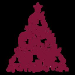 Árbol de navidad de unicornios