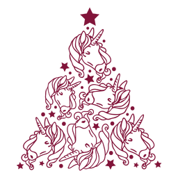 Unicornios arbol de navidad