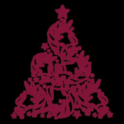 Unicornios arbol de navidad Transparent PNG
