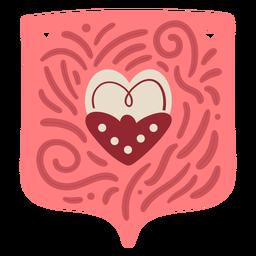 Coração de grinalda dos namorados