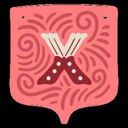 Valentine garland letter x