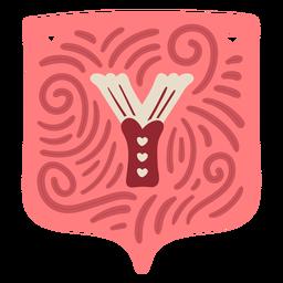 Valentine garland letter y