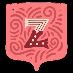 Valentine garland letter z