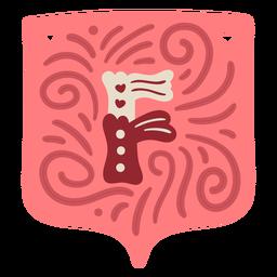 Valentine garland letter f