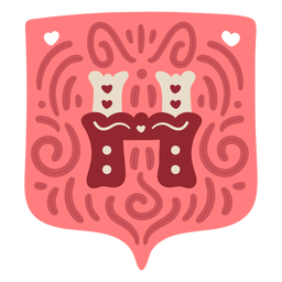 Guirnalda de San Valentín letra h