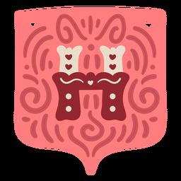 Valentine garland letter h