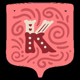Guirnalda de san valentín letra k
