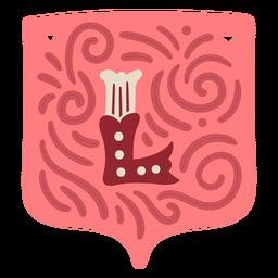 Valentine garland letter l