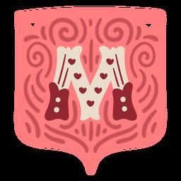 Valentine garland letter m