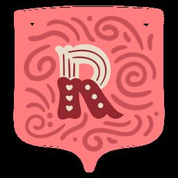 Valentine garland letter r