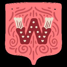 Valentine garland letter w