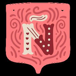 Valentine garland letter Ñ