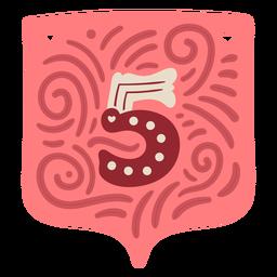 Valentine garland number five