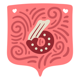 Valentine garland number six