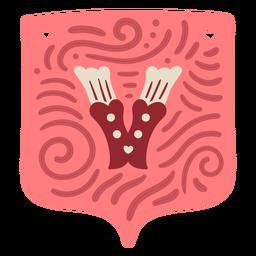 Valentine letter v garland