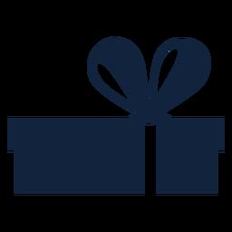 Caixa de presente larga azul