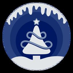 Corte de papel de árvore de natal de inverno