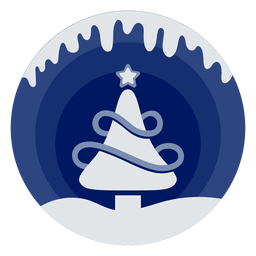 Winter christmas tree papercut