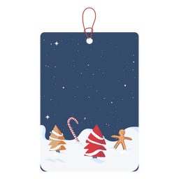 Winter wonderland christmas tag