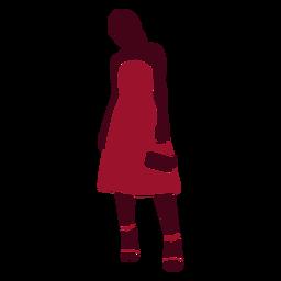 Vestido de mujer con bolso silueta