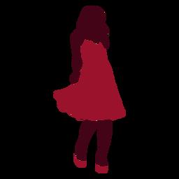 Woman fashion dress silhouette