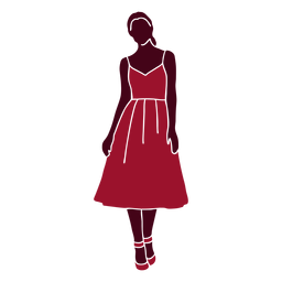 Mujer moda pose silueta moda