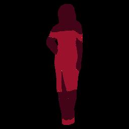 Silueta de vestido sexy de mujer