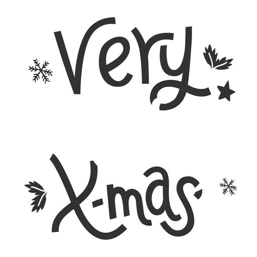 Xmas christmas lettering Transparent PNG