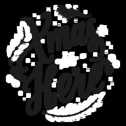 Navidad aquí letras de navidad