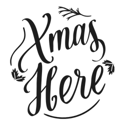 Xmas here christmas lettering