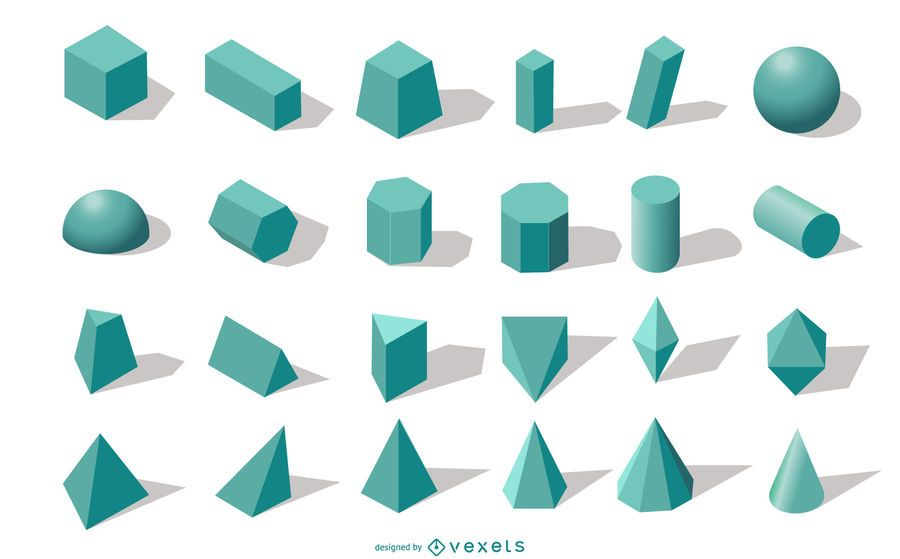 3D geometric shapes collection