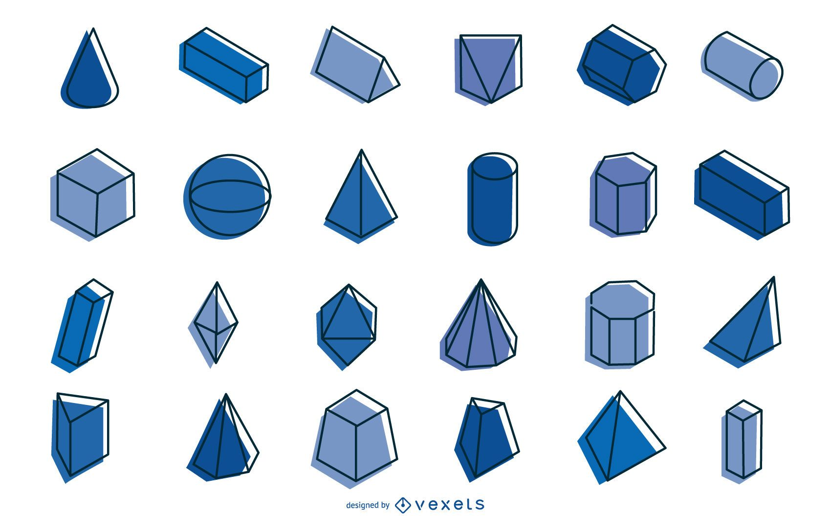 Geometric shapes collection