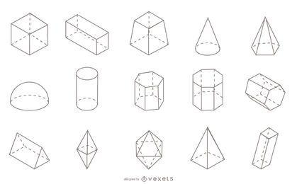 Coleção de traços de formas geométricas