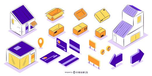 Delivery elements isometric set