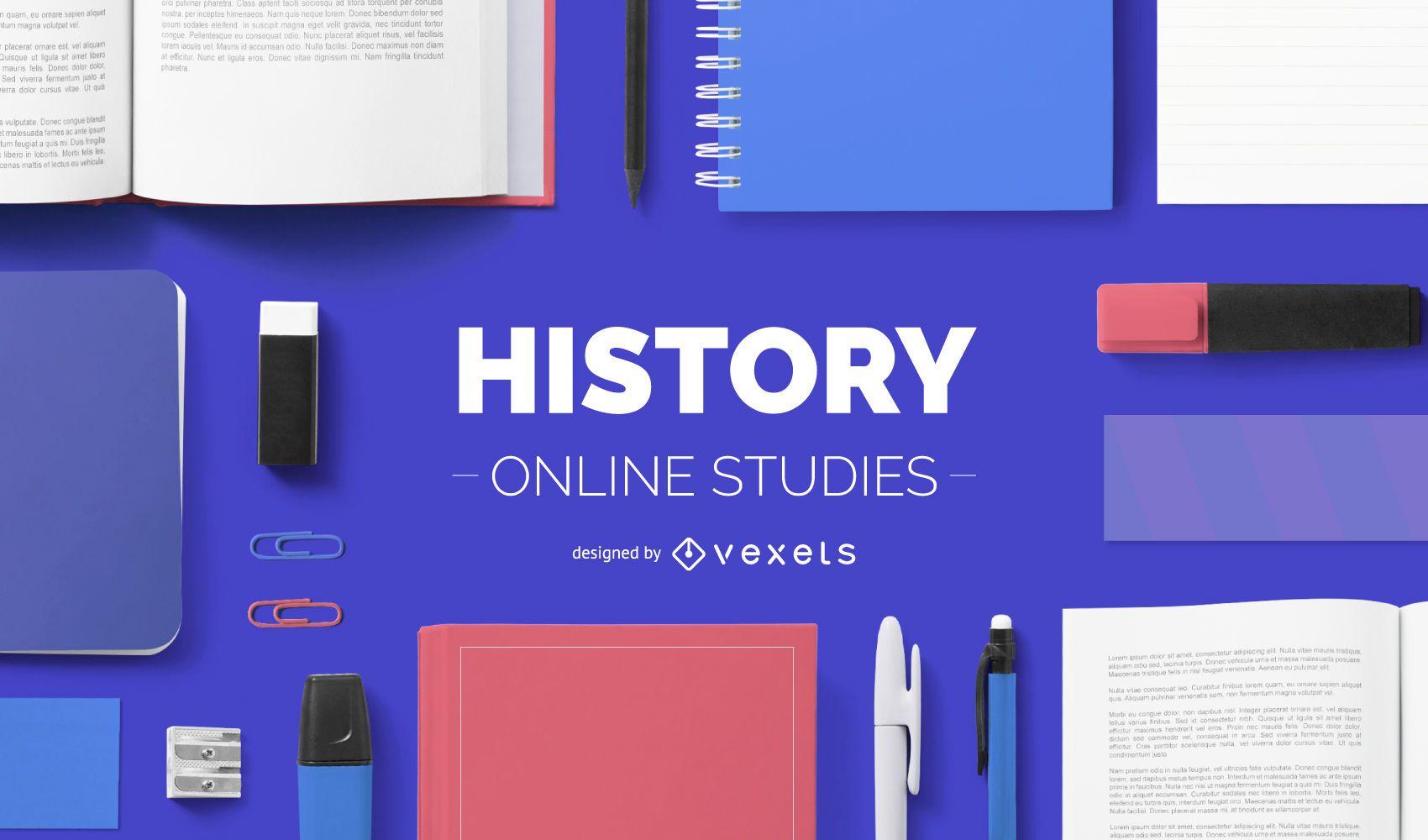 História online estudos cobrem design