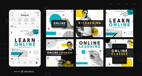 Aprender plantilla de publicación de redes sociales en línea
