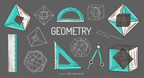 Geometry Elements Illustration Pack