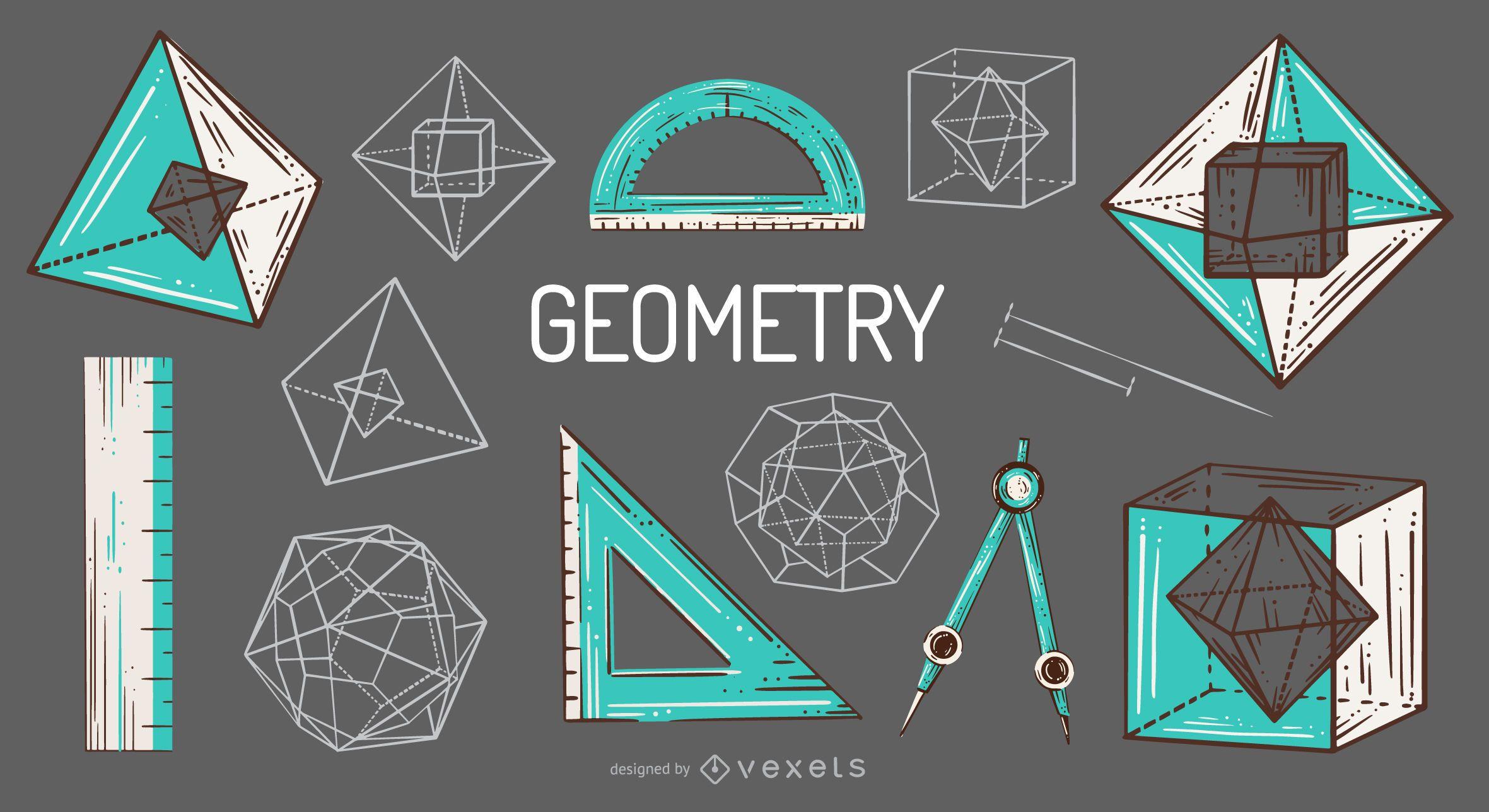 Paquete de ilustraci?n de elementos de geometr?a