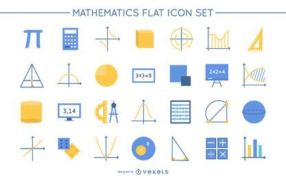 Math Flat Design Icon Pack