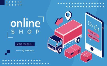 Tienda online Control deslizante web alemán