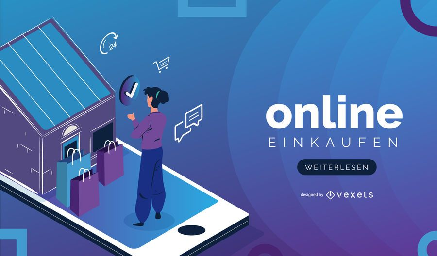 Online Shopping Design Slider alemão